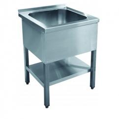 Ванна моечная 1-о секционная ВМП-6-1-5РН (с полкой, вся нерж.)