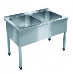 Ванна моечная 2-секционная ВМП-6-2-5РЧ (каркас крашеный)